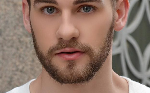 Beard neatly design trimmed Disney Facial