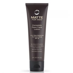 Matte for Men Complete Face and Head Care Lotion with SPF 30